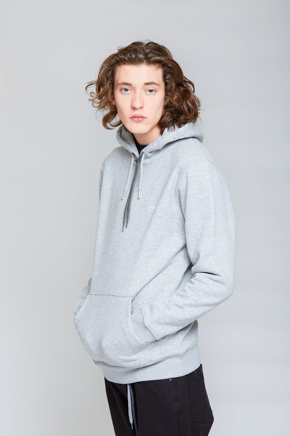 Stick Print Hoodie | Heather Grey