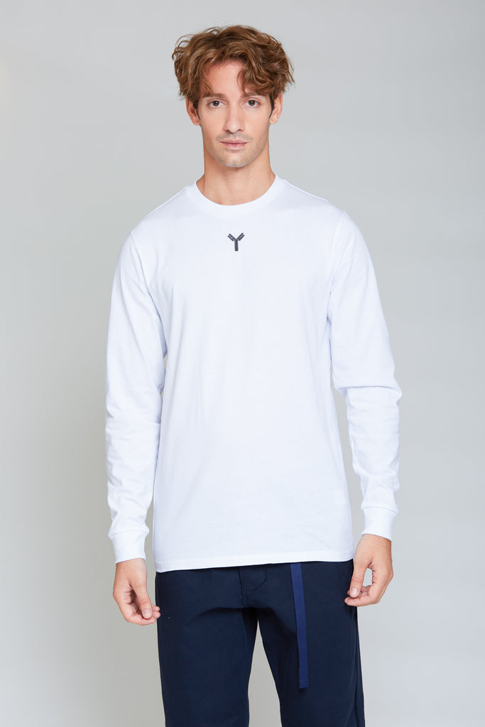 Y Embroidery Longsleeve | Bright White