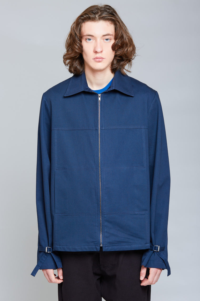Heavy Shirt Blouson Jacket | Midnight Blue