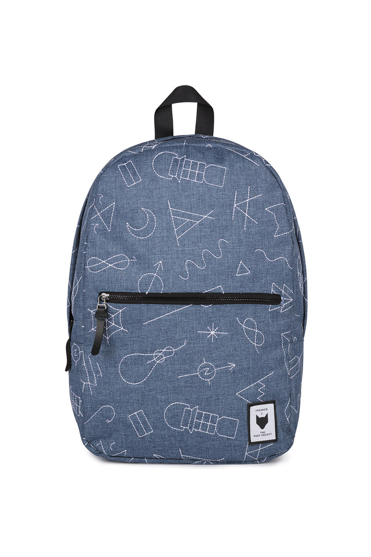 COMMUTER BLUE EMBROIDERY BACKPACK