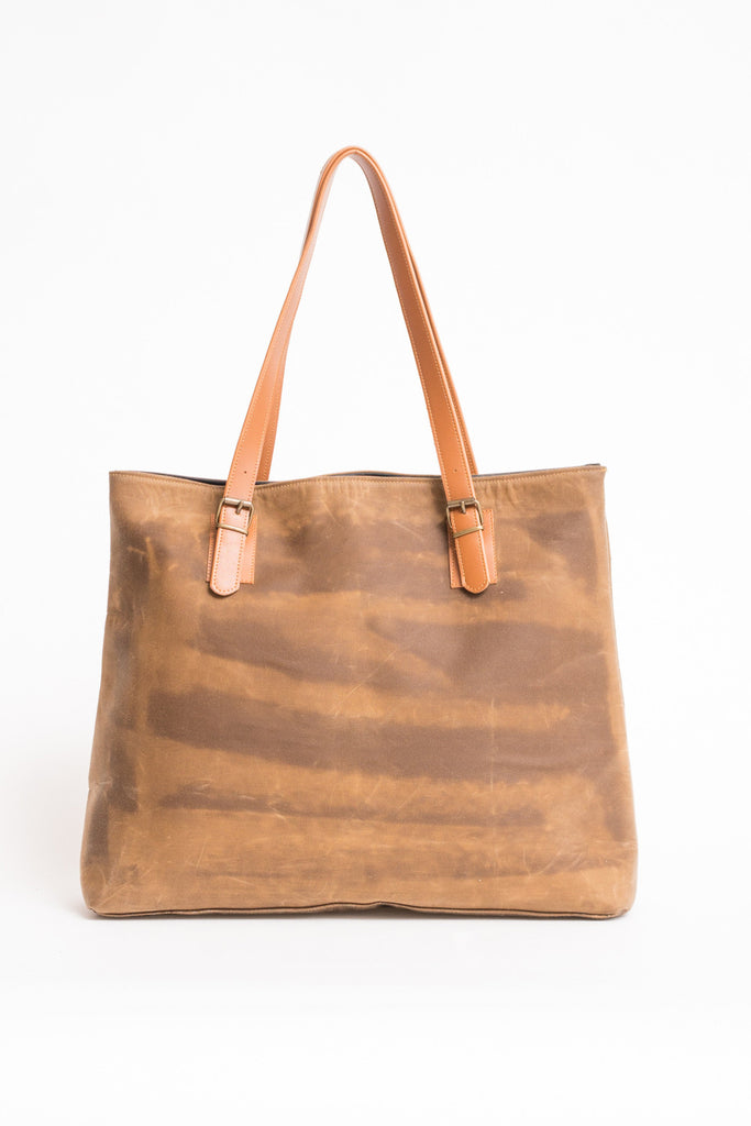 SIENA SHOPPER BAG WAXED CANVAS