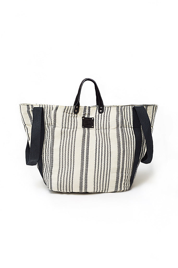 OVERSIZED SHOPPER BAG VERTICAL STRIPES