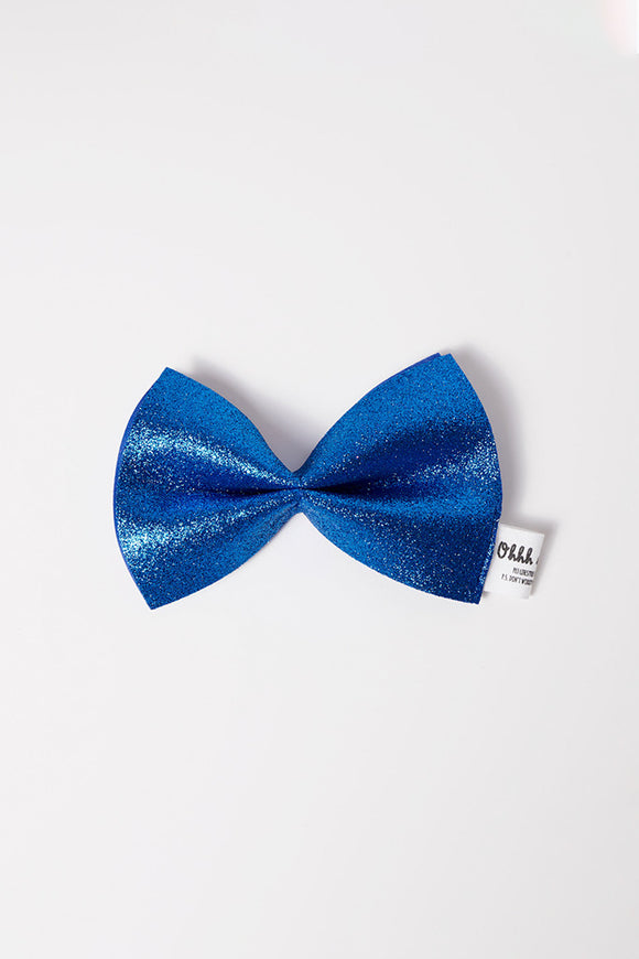 PET GLITTER BOWTIES - VALENTINE BLUE