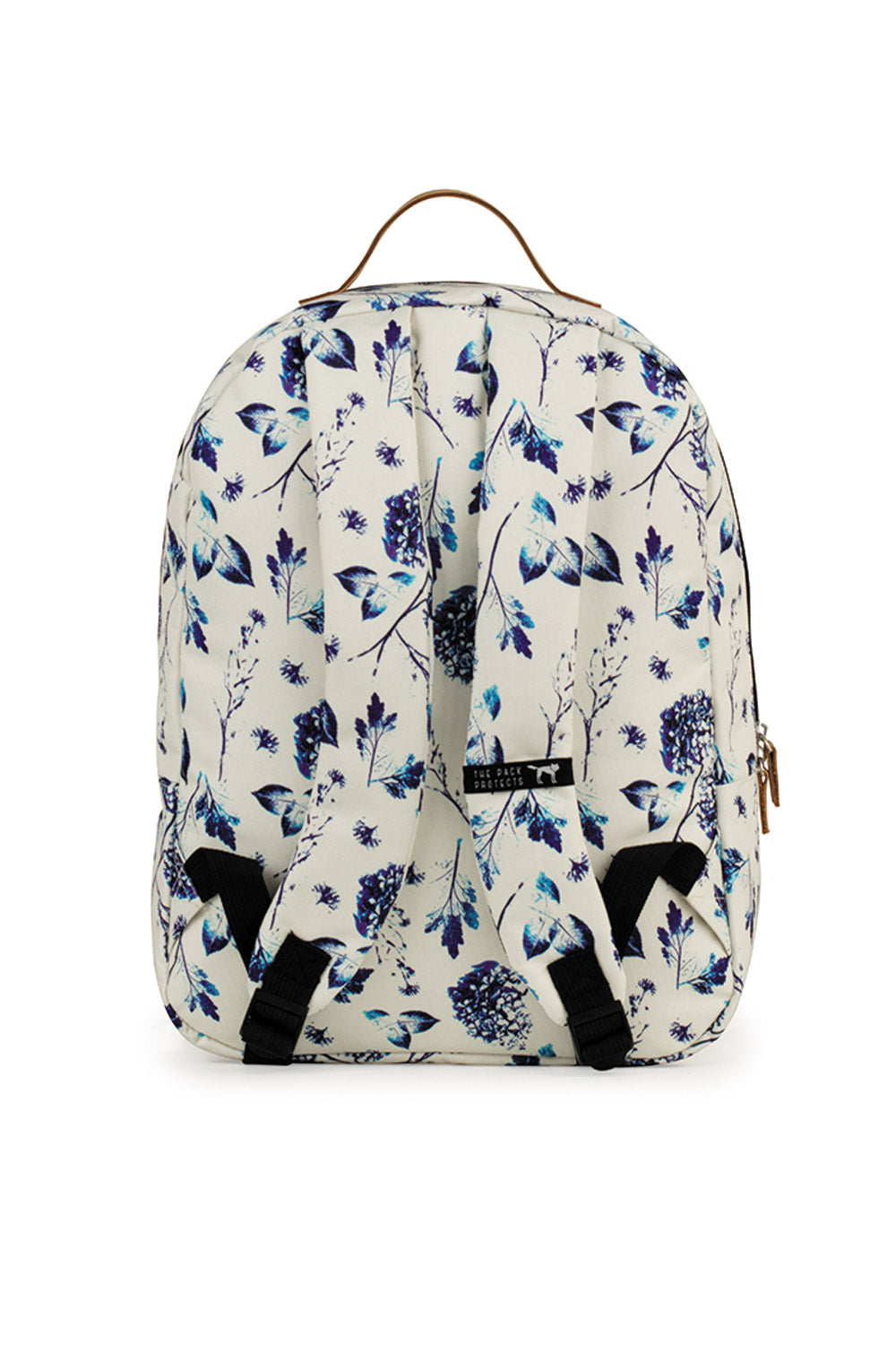 806e378c9cb7 THE PACK SOCIETY - CLASSIC BACKPACK OFF WHITE BLUE FLOWERS - Ozon Boutique
