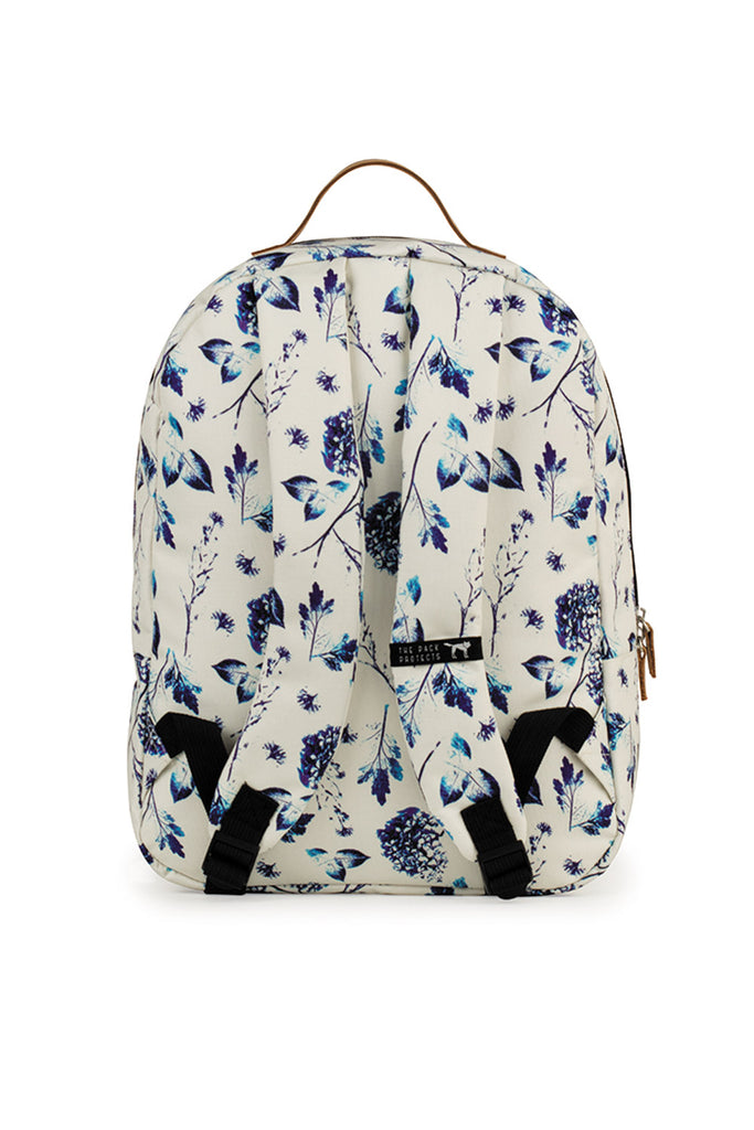 CLASSIC BACKPACK OFF WHITE BLUE FLOWERS