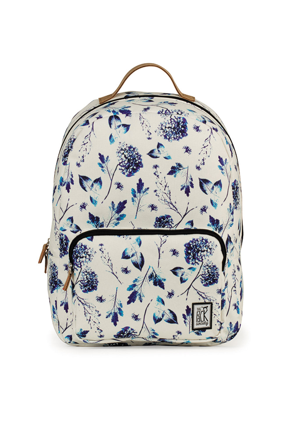 a4ee31b665f6 THE PACK SOCIETY - CLASSIC BACKPACK OFF WHITE BLUE FLOWERS - Ozon ...