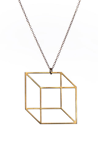 MOODLIKEME - CUBE NECKLACE GOLD/SILVER - Jewellery - Ozon Boutique - 1