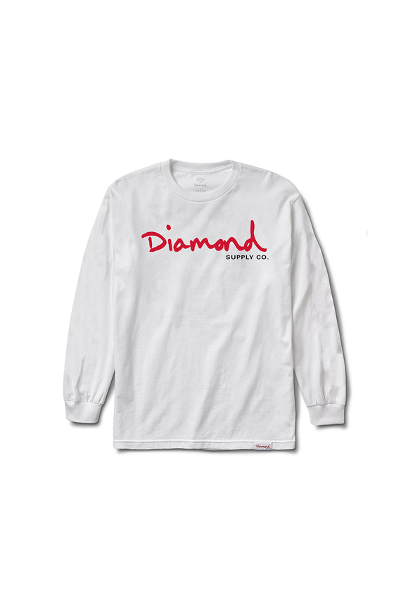 OG SCRIPT LONG SLEEVE T-SHIRT WHITE