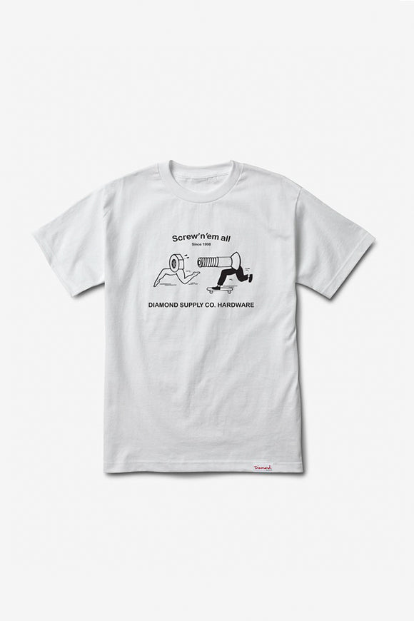 SCREW EM ALL TEE WHITE