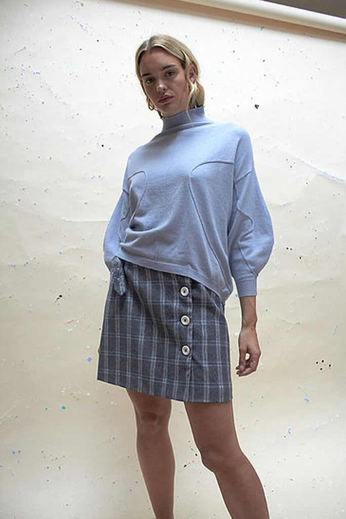EXCLUSIVE VOLUME JUMPER - POWDERED BLUE