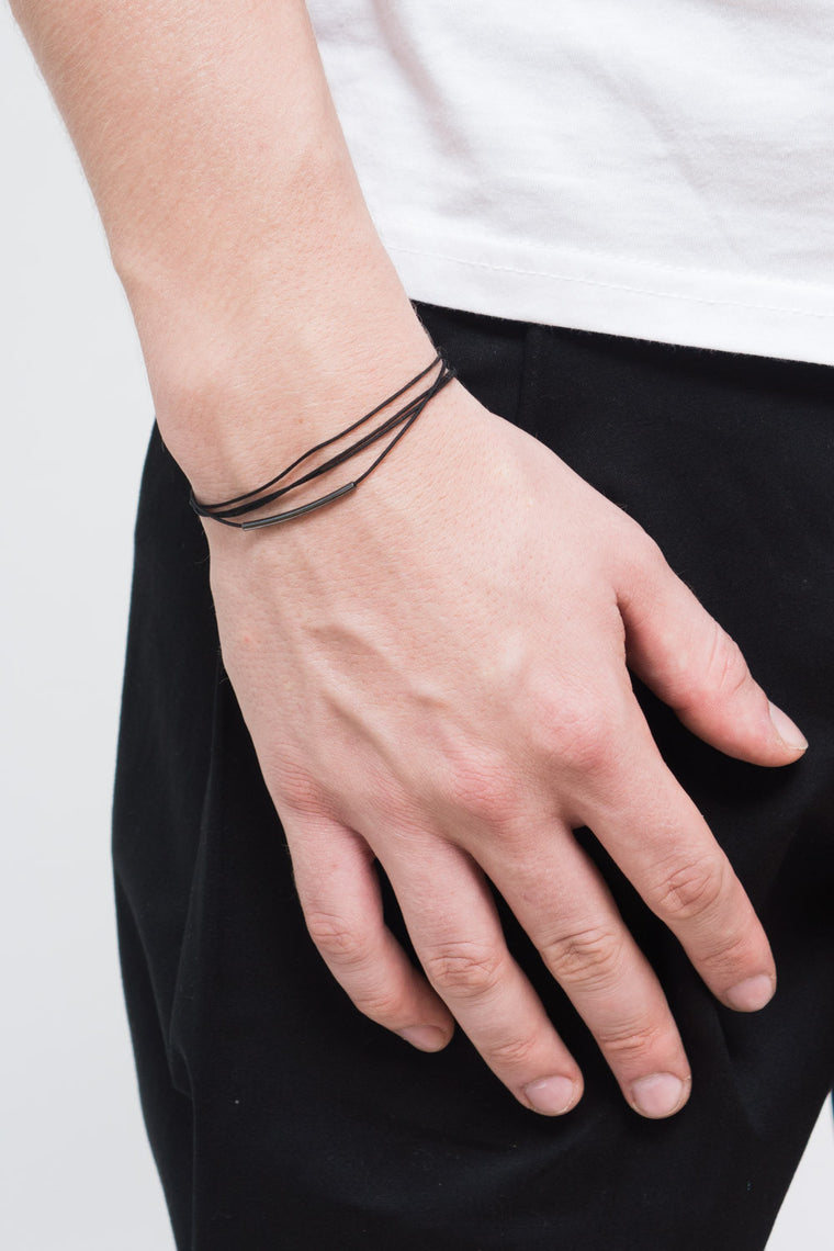 MOUTSATSOS - BLACK RAY OF LIGHT BRACELET - Unisex Jewellery - Ozon Boutique - 1