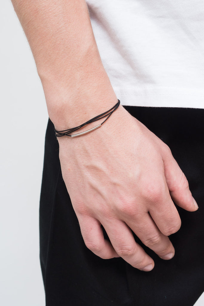 MOUTSATSOS - SILVER RAY OF LIGHT BRACELET - Unisex Jewellery - Ozon Boutique - 1