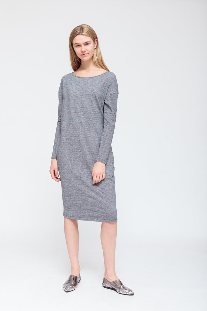 MULTICOLOR LONG-SLEEVE DRESS