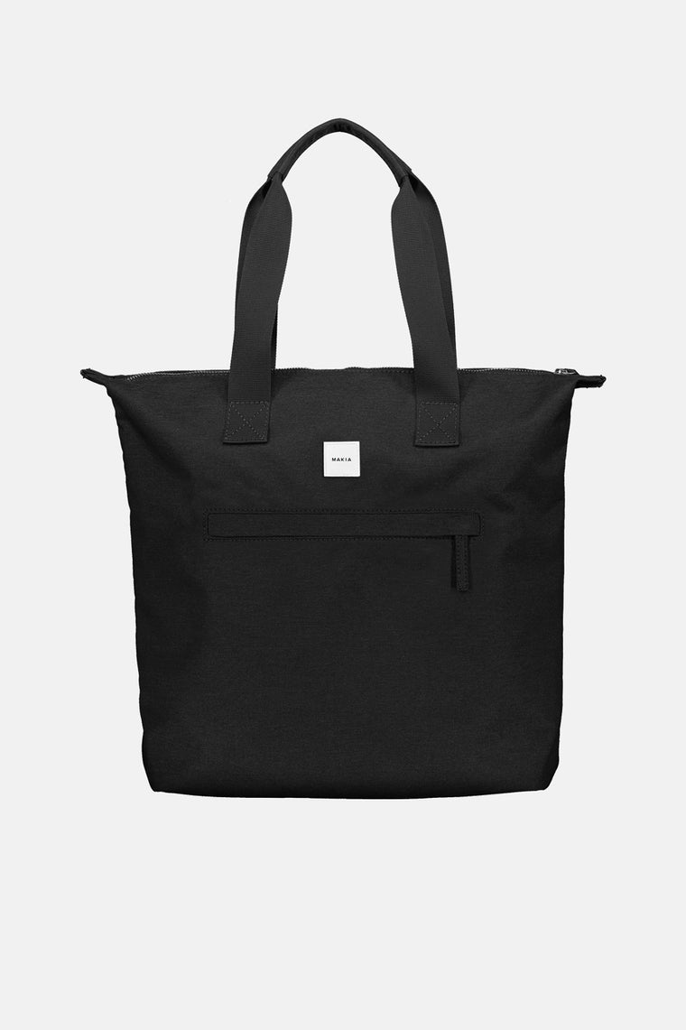 ZIP TOTE BAG BLACK
