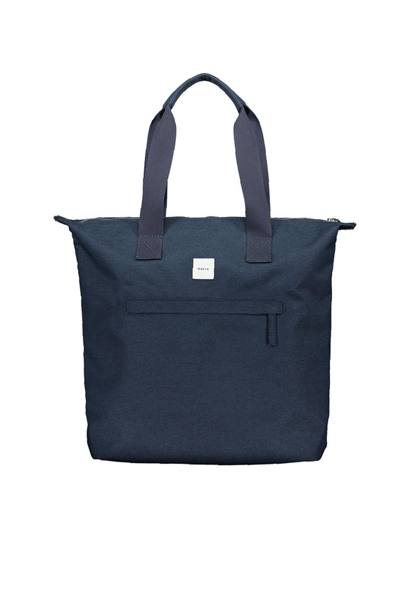 ZIP TOTE BAG NAVY