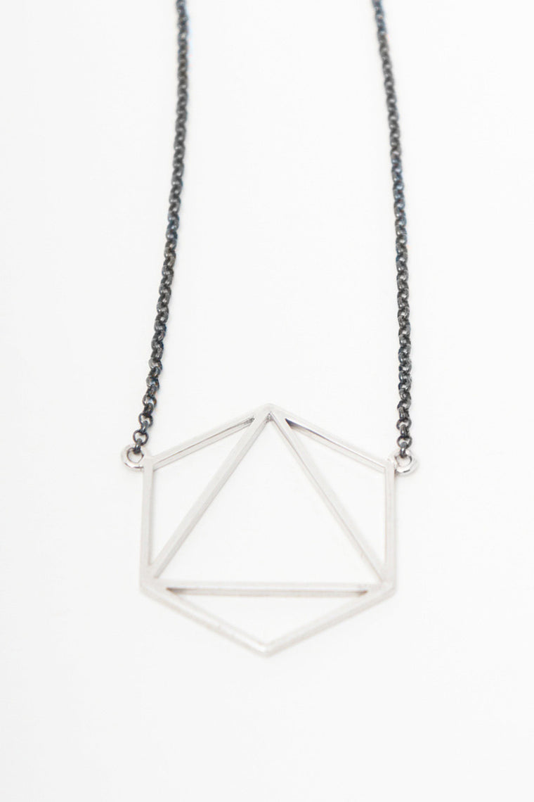 MOUTSATSOS - AIR NECKLACE SILVER - Jewellery - Ozon Boutique - 1