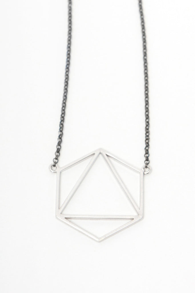 MOUTSATSOS - AIR NECKLACE SILVER - Jewellery - Ozon Boutique - 3