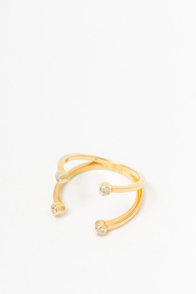 MOUTSATSOS - DIONE RING GOLD - Jewellery - Ozon Boutique - 2