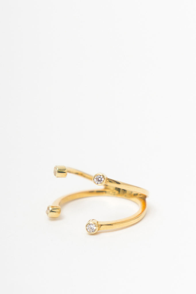 MOUTSATSOS - DIONE RING GOLD - Jewellery - Ozon Boutique - 1