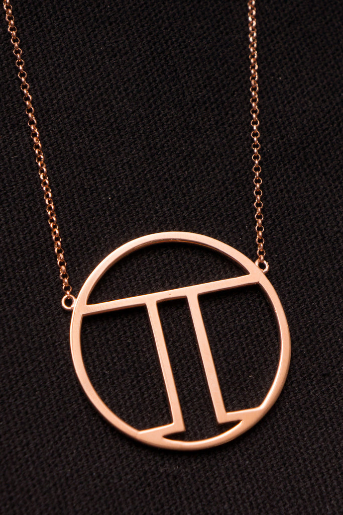 MOUTSATSOS - PI (π) GOLD PLATED SILVER - Jewellery - Ozon Boutique - 8