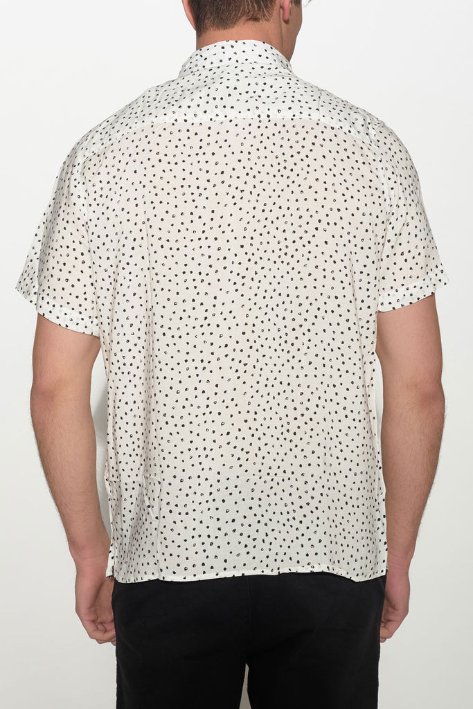 NATIVE YOUTH - PAINTBRUSH POLKA DOT SHIRT - Men Clothing - Ozon Boutique - 2