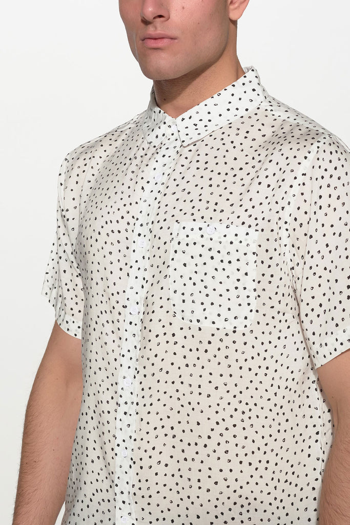 NATIVE YOUTH - PAINTBRUSH POLKA DOT SHIRT - Men Clothing - Ozon Boutique - 3