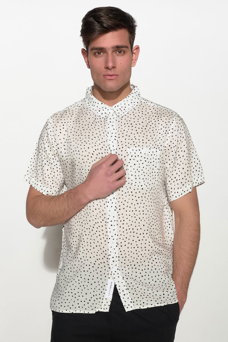 NATIVE YOUTH - PAINTBRUSH POLKA DOT SHIRT - Men Clothing - Ozon Boutique - 1