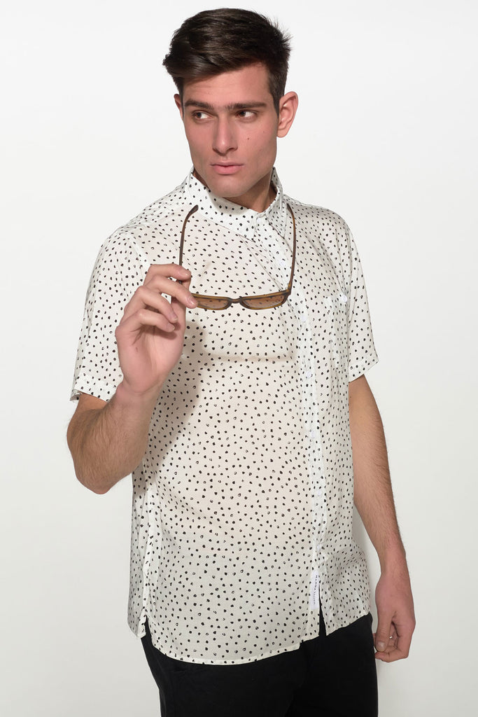 NATIVE YOUTH - PAINTBRUSH POLKA DOT SHIRT - Men Clothing - Ozon Boutique - 5