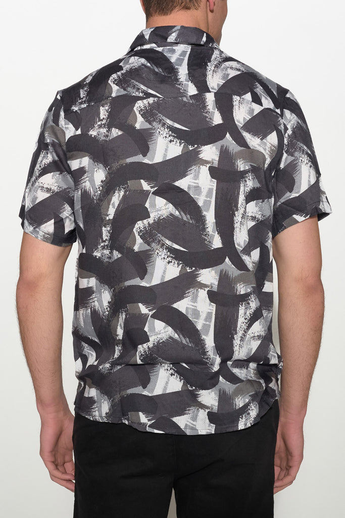 NATIVE YOUTH - PAINTBRUSH PRINT SHIRT - Men Clothing - Ozon Boutique - 3