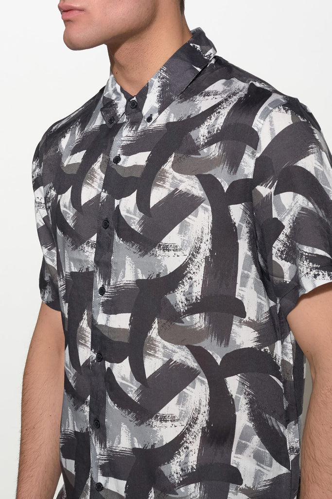 NATIVE YOUTH - PAINTBRUSH PRINT SHIRT - Men Clothing - Ozon Boutique - 5