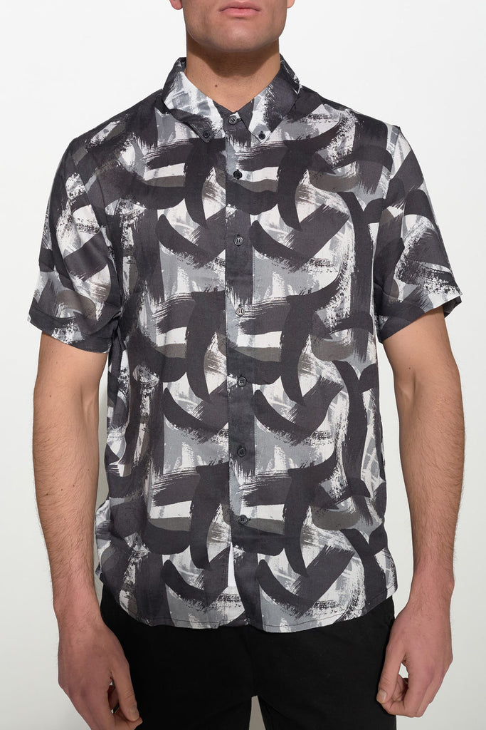 NATIVE YOUTH - PAINTBRUSH PRINT SHIRT - Men Clothing - Ozon Boutique - 6