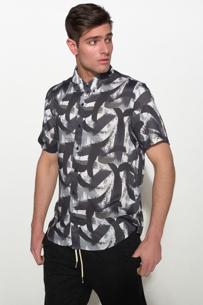 NATIVE YOUTH - PAINTBRUSH PRINT SHIRT - Men Clothing - Ozon Boutique - 2
