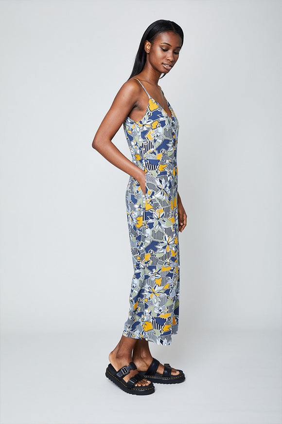 THE GEO FLORA CAMI JUMPSUIT