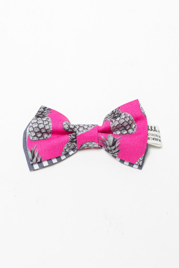 PET BOWTIES - TROPICALIA FUCHSIA