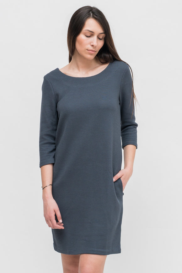 SOFT BLUE 3/4 SLEEVE DRESS