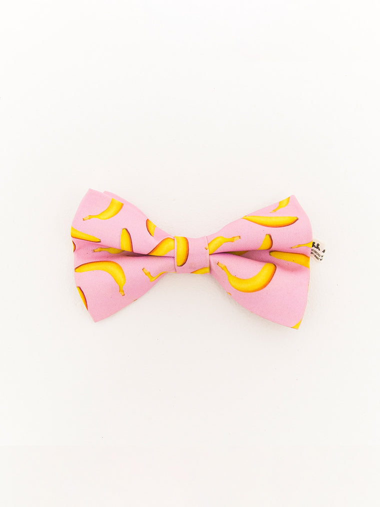 PET BOWTIES - BANANA - PINK