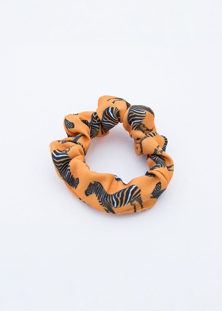 SCRUNCHIE - ZEBRA - ORANGE