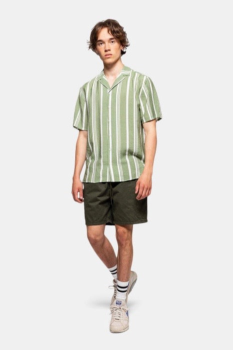 GREEN STRIPE SHORT SLEEVE SHIRT