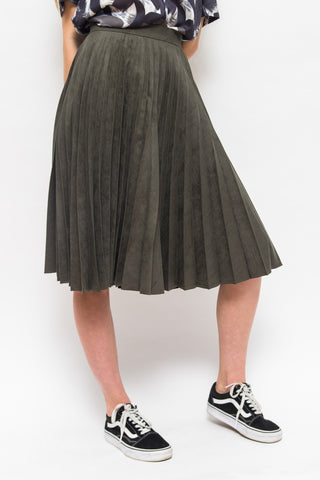 PARISIENNES PLEATED SKIRT GREEN