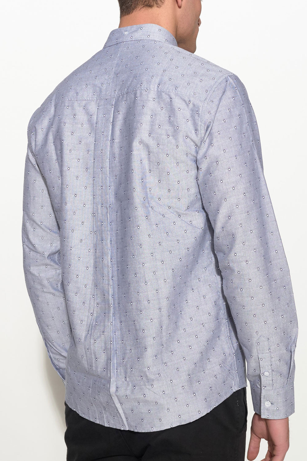 SOULLAND - GOLDSMITH OXFORD SHIRT – GREY W. DOTS - Men Clothing - Ozon Boutique - 2