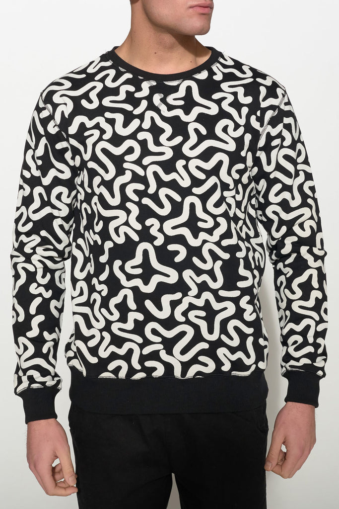 SOULLAND - KEIT SWEATSHIRT – BLACK W. PRINT - Men Clothing - Ozon Boutique - 3
