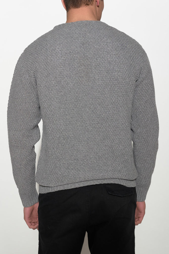 SOULLAND - RICKETTS KNIT SWEATER – GREY - Men Clothing - Ozon Boutique - 2