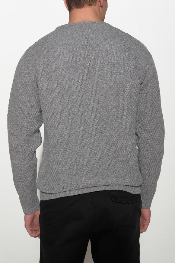 SOULLAND - RICKETTS KNIT SWEATER – GREY - Men Clothing - Ozon Boutique - 1