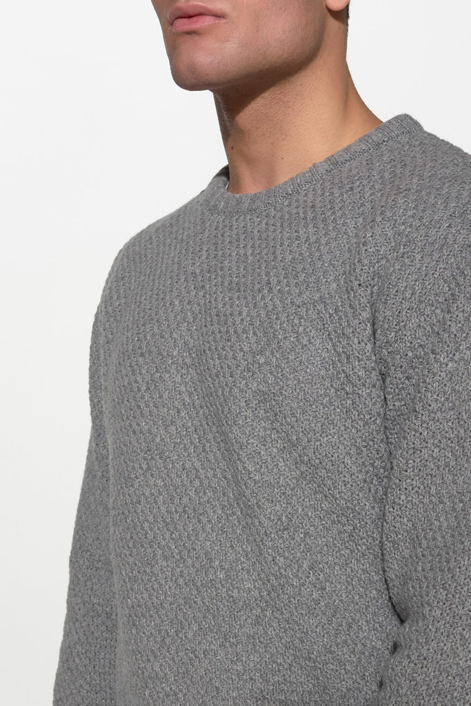 SOULLAND - RICKETTS KNIT SWEATER – GREY - Men Clothing - Ozon Boutique - 3