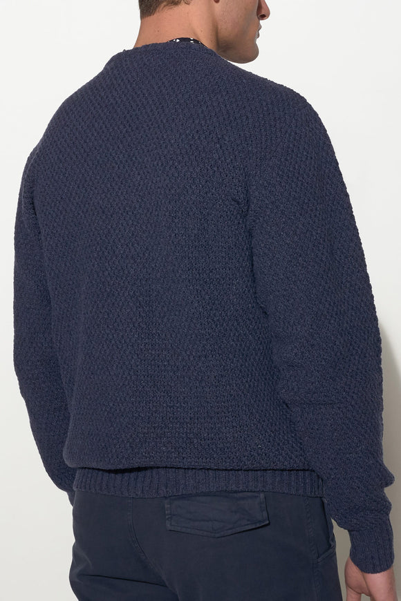 SOULLAND - RICKETTS WOOL KNIT SWEATER – NAVY - Men Clothing - Ozon Boutique - 1