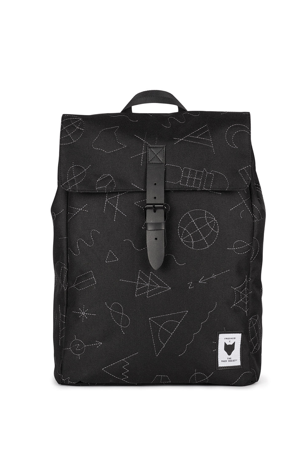 THE PACK SOCIETY - SQUARE BLACK EMBROIDERY BACKPACK - Ozon Boutique 10bf4224aab20