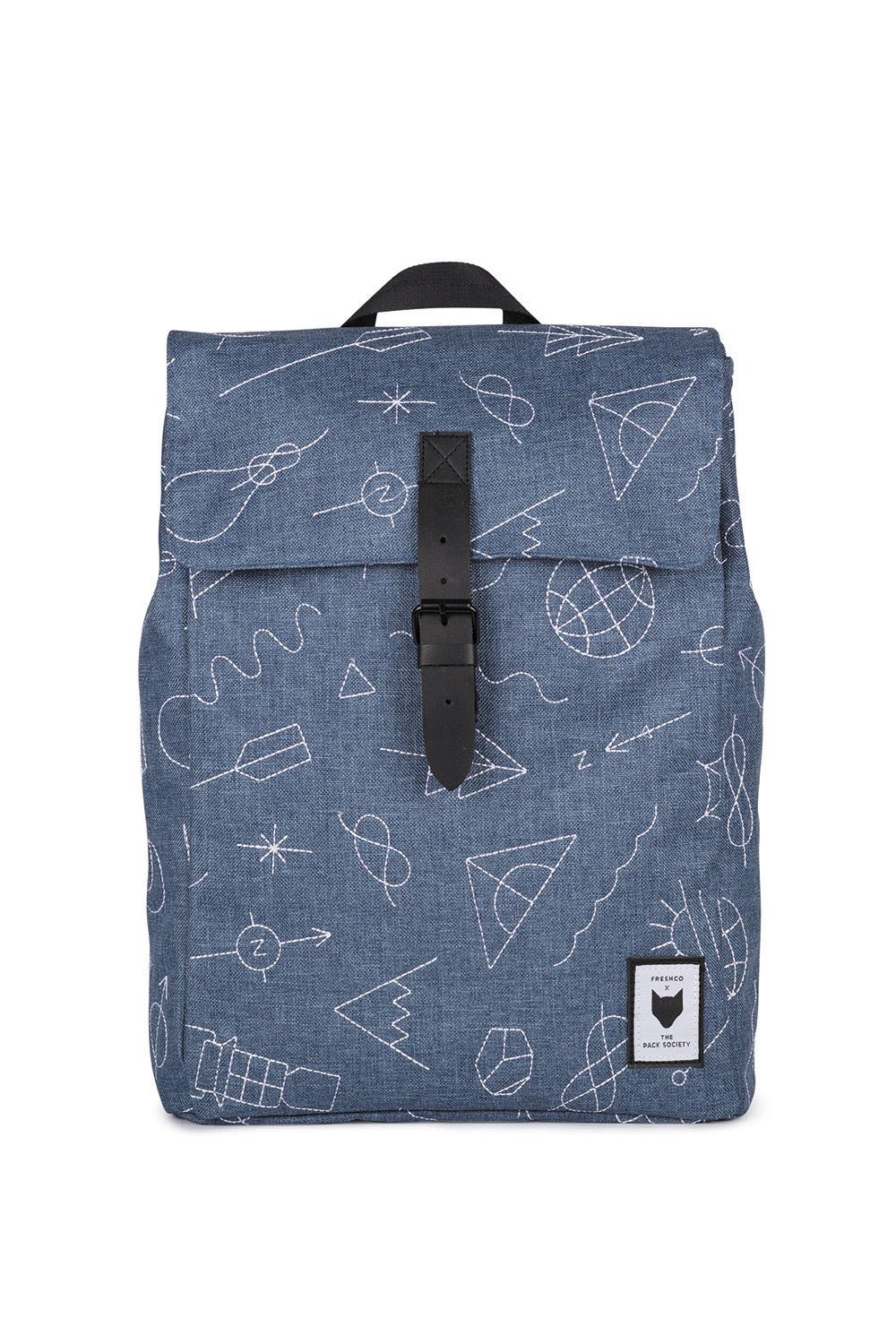 THE PACK SOCIETY - SQUARE EMBROIDERY BACKPACK - Ozon Boutique b2f0b5bab0726
