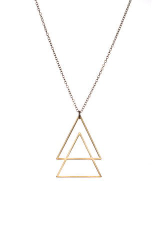 MOODLIKEME - TRIANGLES NECKLACE GOLD/SILVER - Jewellery - Ozon Boutique - 1
