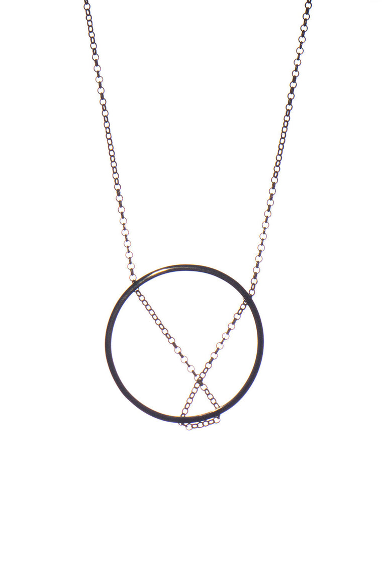 MOUTSATSOS - MEDIUM BLACK CIRCLE - Jewellery - Ozon Boutique - 1