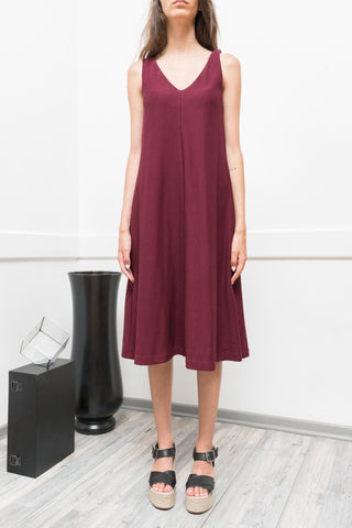 BURGUNDY SLEEVELESS DRESS